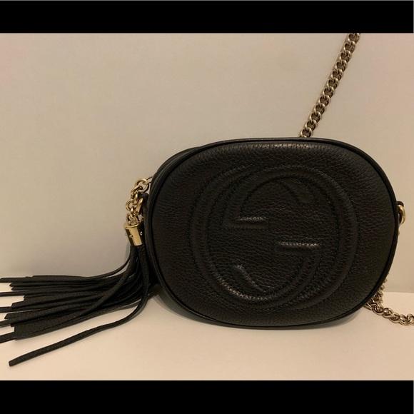 Gucci Handbags - Gucci Soho leather mini chain bag